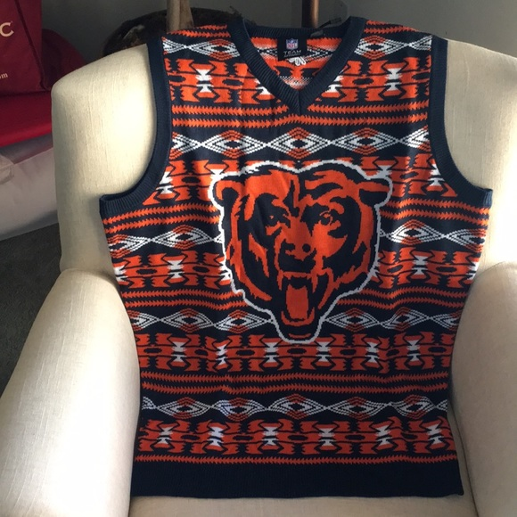 Nfl Sweaters Chicago Bears Sweater Vest Mens Medium Nwt Poshmark